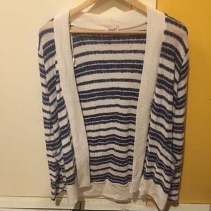 Splendid Blue and White Stripe Cardigan